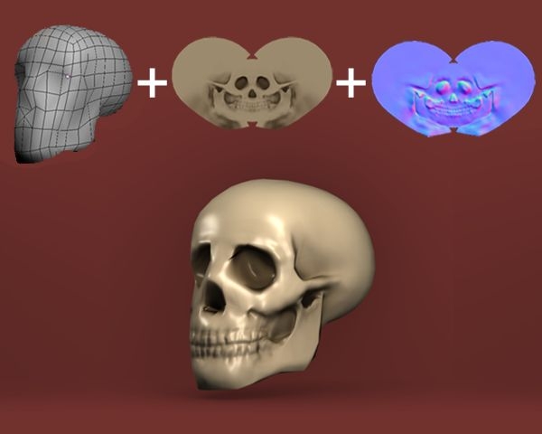 Sculpt, Model and Texture a Low-Poly Skull in Blender