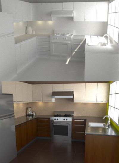 3D Photorealistic Rendering: Interiors