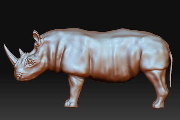 Sculpt a Lifelike High-Poly Rhinoceros in ZBrush