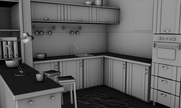 Step 1 for Vray interior scene