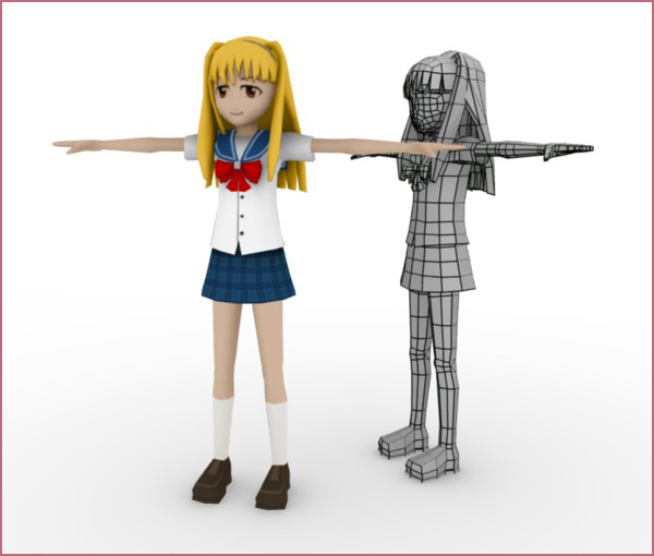 Character Design In Blender : Model uv and texture a complete manga character in