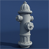 Preview for Model a Detailed High Poly Fire Hydrant in 3ds Max