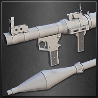 Preview for Model a High-Poly RPG Rocket Launcher in 3ds Max: Part 1