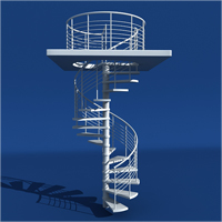 Preview for Model a Modern Spiral Staircase in 3ds Max