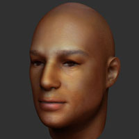 Preview for Quickly Texture a Human Head with Zapplink in ZBrush 3.5