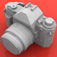 Preview for Model a High Poly Canon A1 Camera in Modo: Part 1
