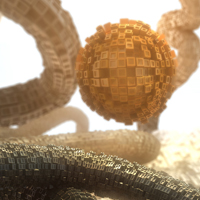 Preview for Create a Gorgeous Abstract Greeble Scene in Cinema 4D