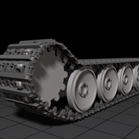Preview for Rigging a Detailed Tank Track using C4D, XPresso, and Mograph