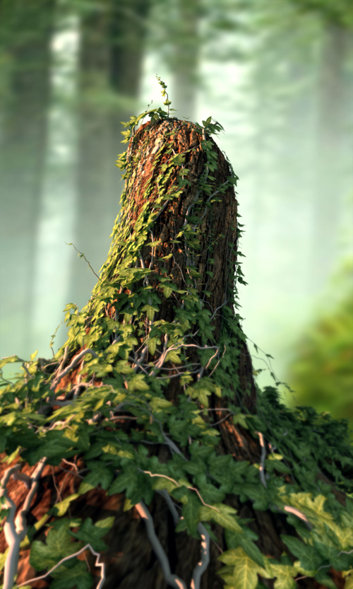 Create an Ivy Covered Tree Stump with 3ds Max, Ivy Gen, and VRay