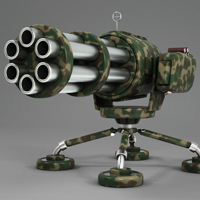 Preview for Model a Cartoony Gatling Gun in Luxology Modo 401
