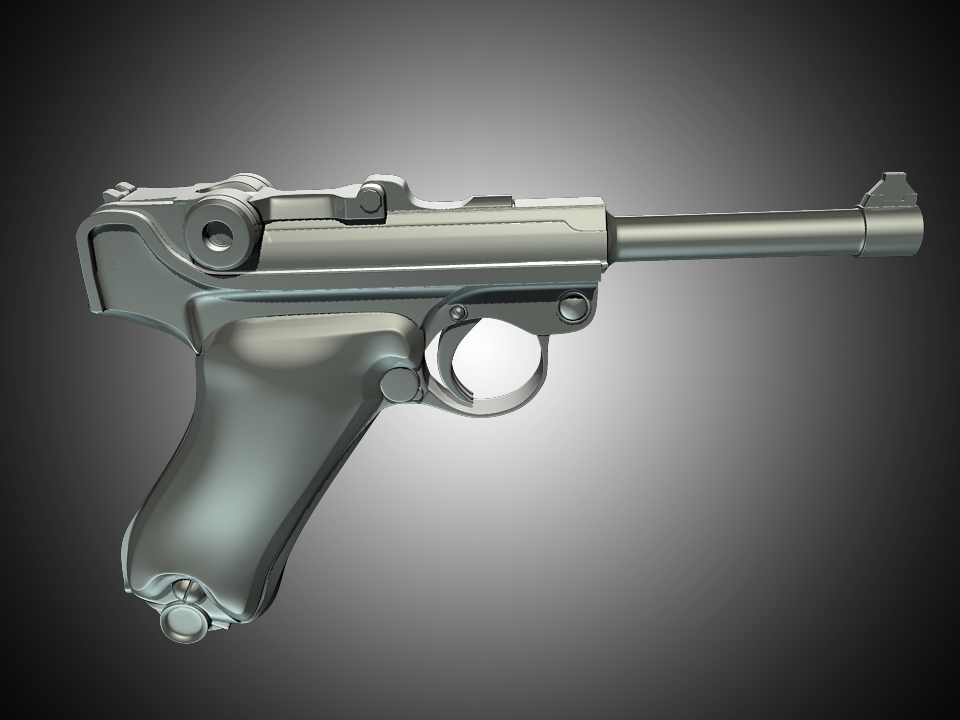 Modelling A Luger P08 Using Subdivision Surfaces In Maya Part 1