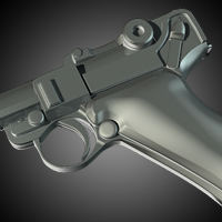 Preview for Modelling a Luger P08 using Subdivision Surfaces in Maya: Part 1