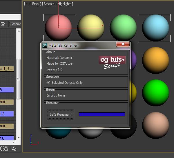 Write a Material Renamer using Maxscript in 3ds Max