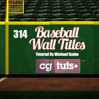 Preview for C4D: Modeling and Rendering a Baseball Wall Title Spot