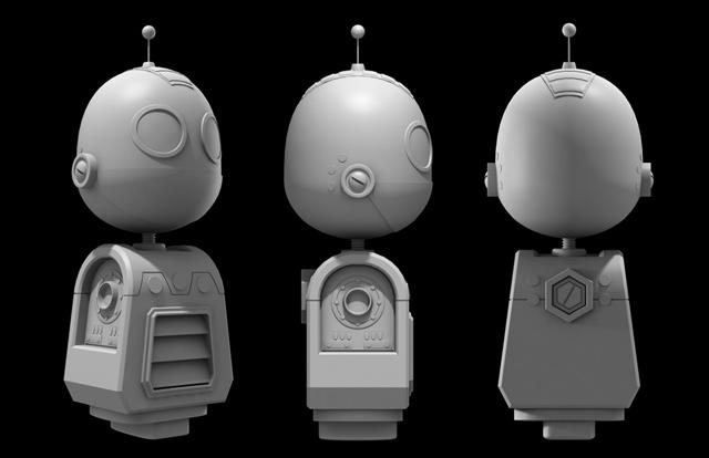 Cinema 4d Character Design Tutorials : Create a high rez clank model in cinema d day