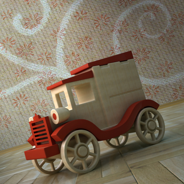 Toy Car Holder Tutorial : Create a wooden toy car in ds max