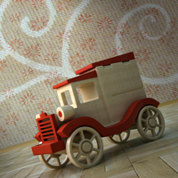 Thumb 3d cg vfx modeling texturing rendering 3dsmax autodesk wooden car