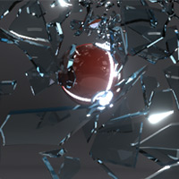Preview for Shattering Glass with Rayfire in 3dsMax