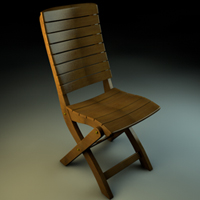 Preview for Model A Wooden Chair In Cinema4D