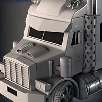 Preview for 'Mini Semi Truck' Modeling - Day 2