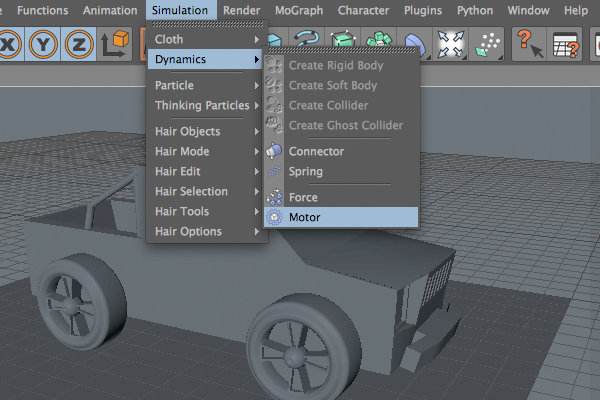 Rigging And Steering A Simple Car In Cinema 4D R12