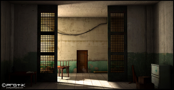 Making Of The Abandoned Lobby In Maya And Mentalray