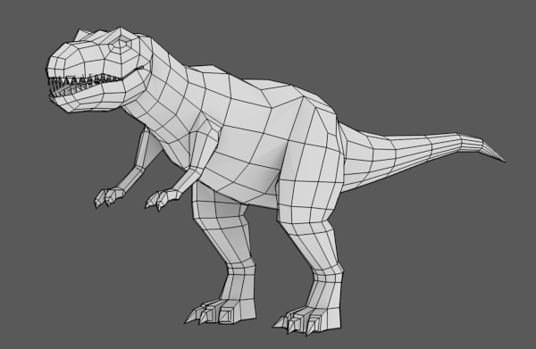 Modeling, UVmapping And Texturing A Low Poly T-Rex In