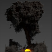 Preview for Create A Realistic Explosion In Maya Using Maya Fluids