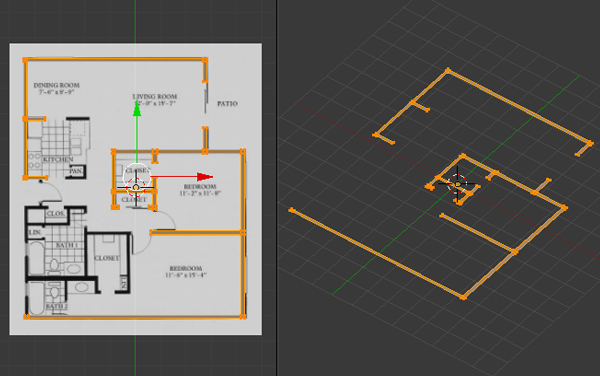 Create A 3d Floor Plan Model From An Architectural Schematic In Blender