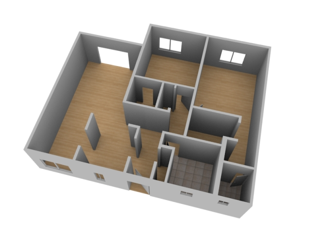 Create a 3d floor plan model from an architectural Build house online 3d free