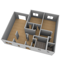 Preview for Create A 3D Floor Plan Model From An Architectural Schematic In Blender