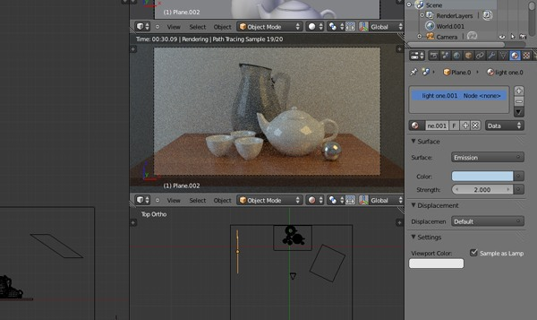 Realistic rendering with Blender using the Cycles engine