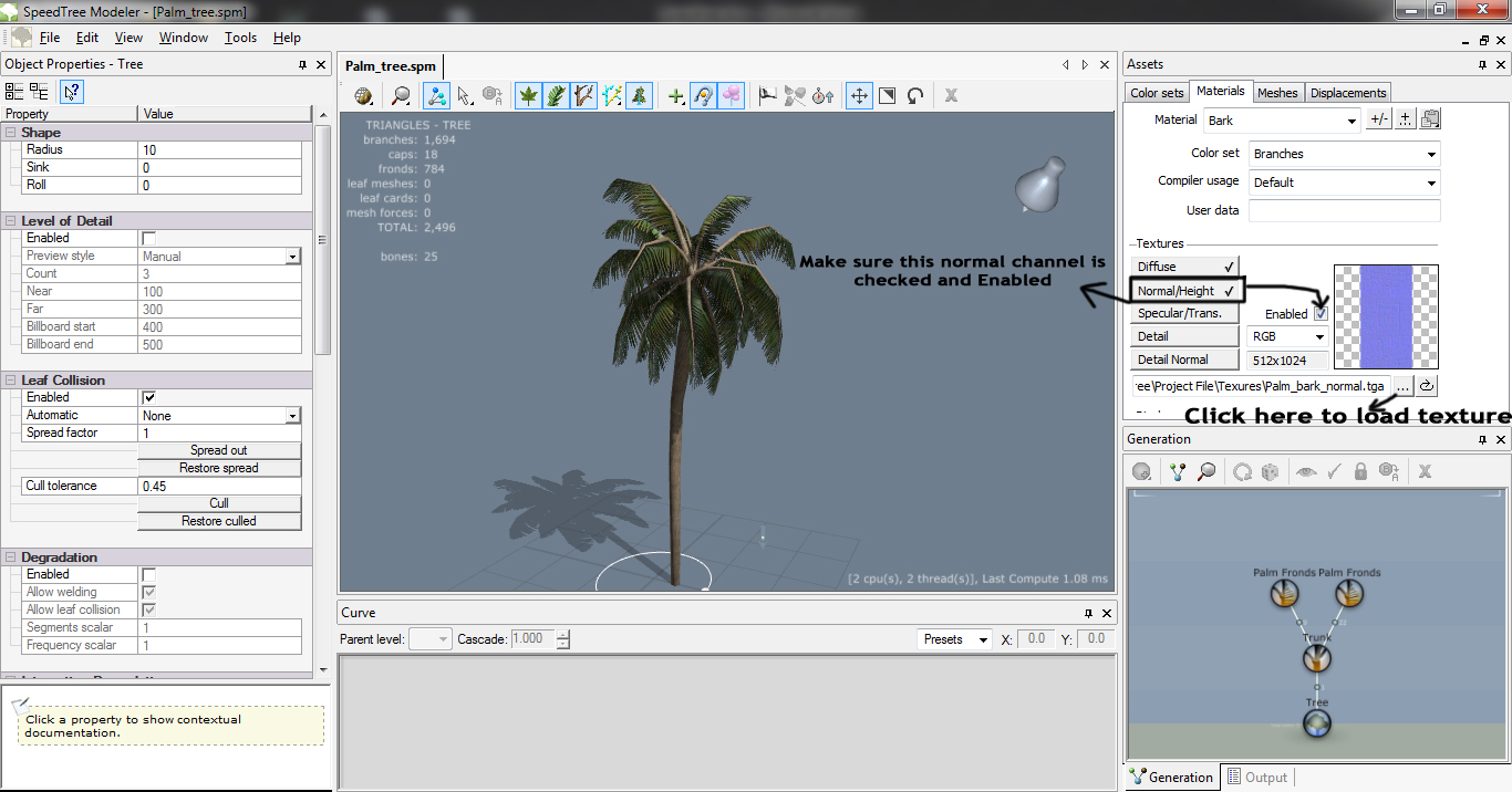 Workflow of Speedtree to UDK: Creating A Palm Tree In Speedtree And Importing It Into UDK