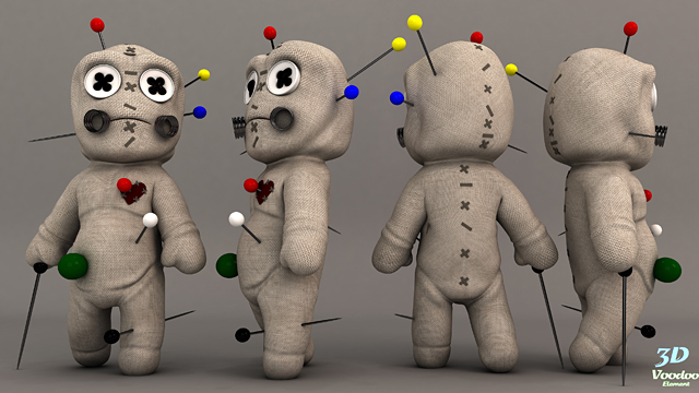 Rigging A Voodoo Doll Character In Maya: Part 1