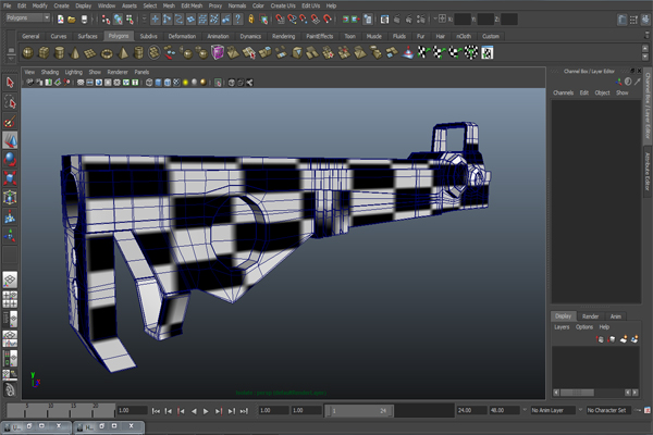 Tutorial Creating A Futuristic Weapon In Maya