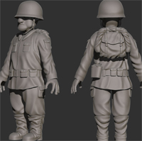 Preview for Sculpting Clothing & Accessories For A Toon Soldier Character Using ZBrush