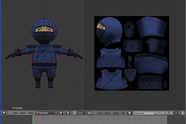 Game Character Modeling In Blender : Creating a low poly ninja game character using blender part