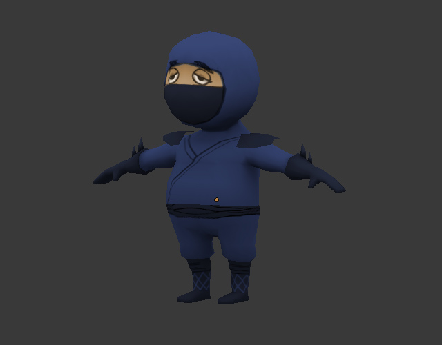 Character Design Using Blender : Creating a low poly ninja game character using blender
