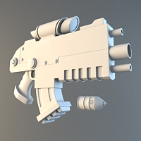 Preview for Modeling A Futuristic Bolt Gun In 3D Studio Max