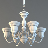 Preview for Model A Decorative, High Poly Chandelier In 3D Studio Max