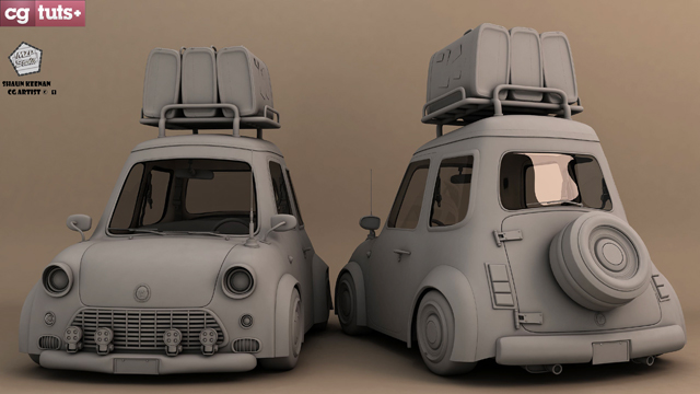 Create a stylized car in maya the complete workflow part 5 today were bringing you the fifth part in the stylized car series from shaun keenan last week you began building the various pieces and accessories needed malvernweather Choice Image