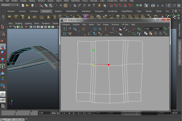 how to change scale of uv in maya