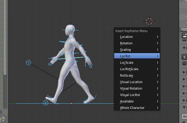 Create an animation walk cycle in blender using rigify for 3d diagram maker online