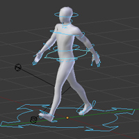 Preview for Create an Animation Walk Cycle in Blender using Rigify