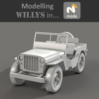 Preview for Modeling a High Poly World War II Willys Jeep in Modo - Part 5