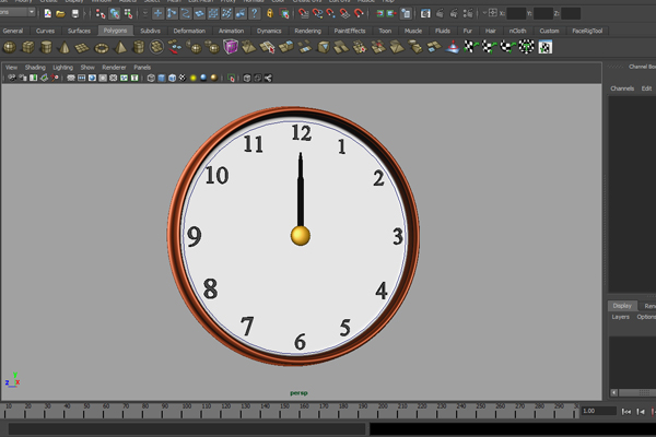 Tutorial Creating A Simple Animated Clock In Maya Using Expressions