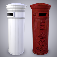 Preview for Creating an Old Weathered Low Poly Post Box in Maya: Part 1