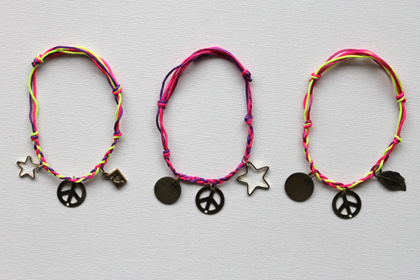 Make A Gorgeous Knotted Charm Bracelet