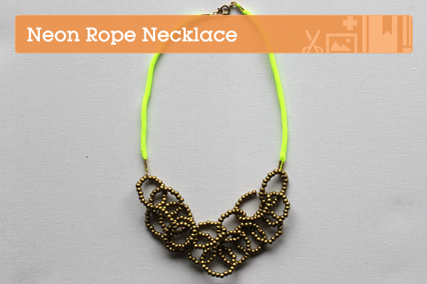 Make a Gorgeous Neon Rope Necklace