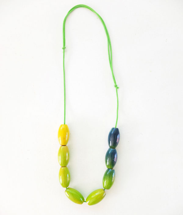 Ombre bead necklace